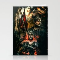 silent hill Stationery Cards featuring Silent Hill 2 - Atonement  by Tatiana Anor