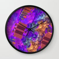 vertigo Wall Clocks featuring Vertigo by Lyle Hatch