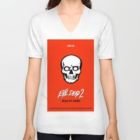 evil dead V-neck T-shirts featuring Evil Dead 2 - Red by Dukesman