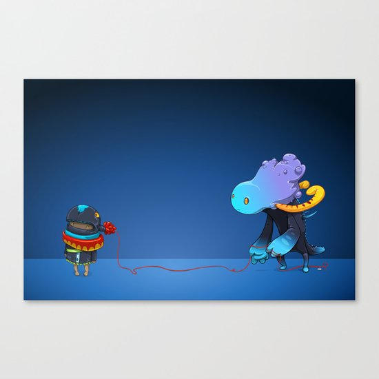 Thread Troll Canvas Print