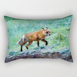 Yukon Wildlife  - Red Fox Rectangular Pillow
