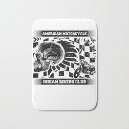 Motorcyclist American Motorcycle Indian Bikers Club Biker Bath Mat