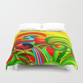 Paradise Bird Duvet Cover