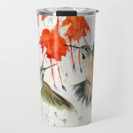 Hummingbird Watercolor Travel Mug
