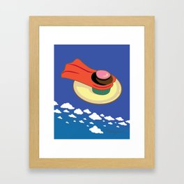 Super Cupcake Framed Art Print