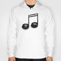 record Hoodies featuring Music Record by Romayne Robinson
