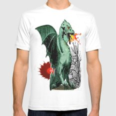 Draco Mens Fitted Tee White MEDIUM