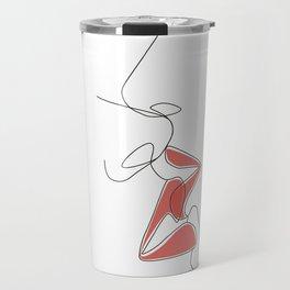 One-Line Kiss Travel Mug