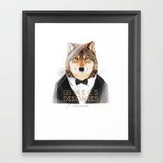 Loup Gris Framed Art Print