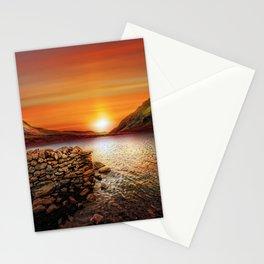 Idwal Lake Sunset Stationery Cards