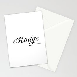 Name Madge Stationery Cards