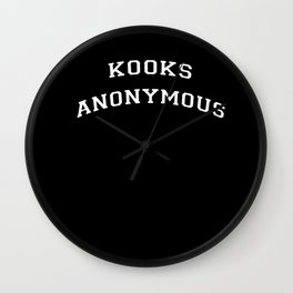 Kooks Anonymous Wall Clock