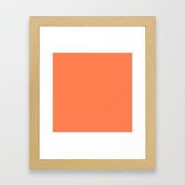 Coral Solid Color Framed Art Print