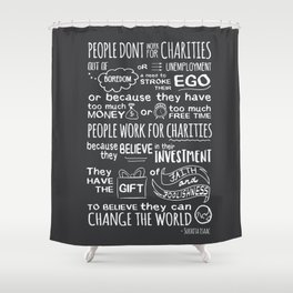 Change the world Shower Curtain