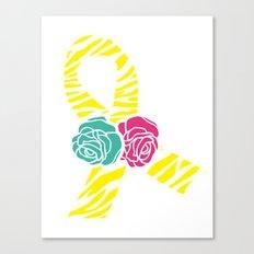 Endometriosis Ribbon 2 Canvas Print