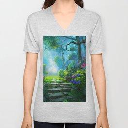 Fascinating Gorgeous Idyllic Dreamy Magic Garden UHD Unisex V-Neck