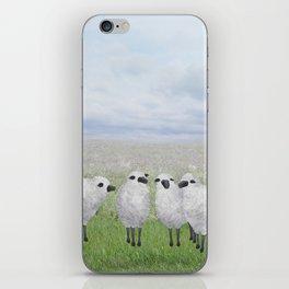 sheep in a field iPhone Skin