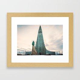 Hallgrímskirkja, Iceland Framed Art Print