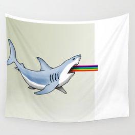 Rainbow Shark Wall Tapestry