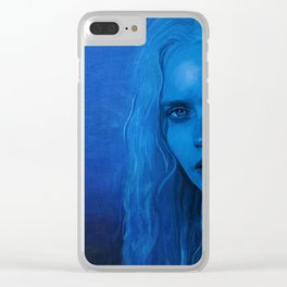 The Blue Angel Woman Clear iPhone Case