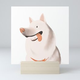 The Happiest Dog Mini Art Print