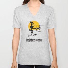 Endless Surf Summer Vintage Poster Unisex V-Neck