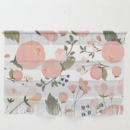 Pink Flower Pattern Wall Hanging