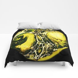 Tint Blot - Cracked Glass Yellow Comforters