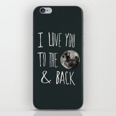 I Love You to the Moon iPhone & iPod Skin
