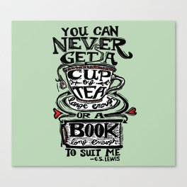 A Cup of Tea and a Book Canvas Print
