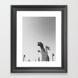 DINO / Cabazon Dinosaurs, CA Framed Art Print