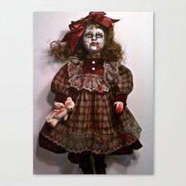 Little Miss Sarah Splatter Canvas Print