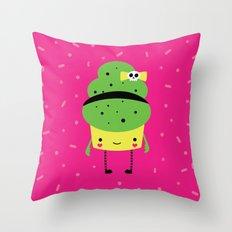 Beehive Cupcake Throw Pillow
