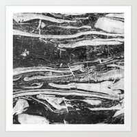 Nordic Wave Marble Art Print