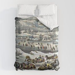 Central Park in Winter Currier & Ives Comforters