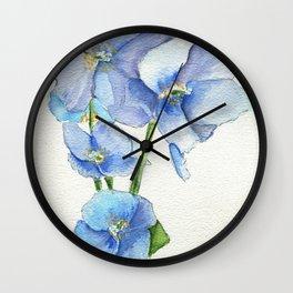 Blues In Nepal Wall Clock