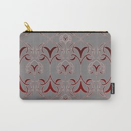 Candy's scroll Design-Red and Black Carry-All Pouch