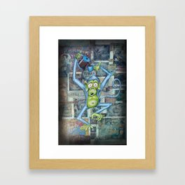 Rebecca's Coffee Drinking Monkey Framed Art Print