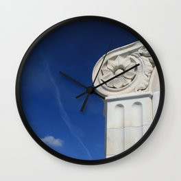 Paradise in Blue and White. Wall Clock
