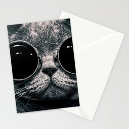 Cat with sunglasses Stationery Cards