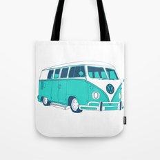Blue Camper Van Tote Bag