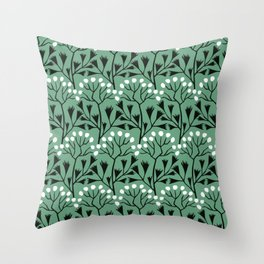 vintage home decor: Flower pattern for midcentury lovers Throw Pillow