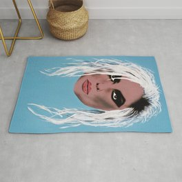 Lady of the eighties - Painting Rug