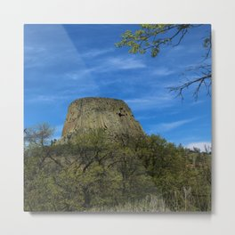 Devils Tower View Metal Print