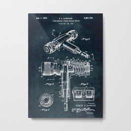 1951 -Torque release wrench patent Metal Print