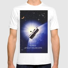 HUBBLE SPACE TELESCOPE. MEDIUM Mens Fitted Tee White
