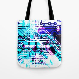 circuit board blue Tote Bag