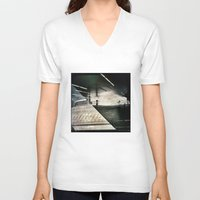 montreal V-neck T-shirts featuring Montreal urbain by Jean-François Dupuis