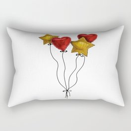 Floating hearts and stars Rectangular Pillow