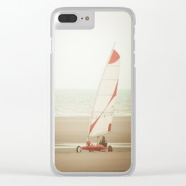 Char à voile yachting Clear iPhone Case